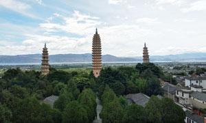 崇圣寺三塔旅游高清摄影图片