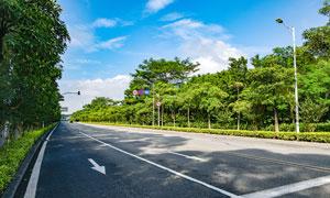 东莞茶山镇道路风光摄影图片