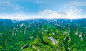 张家界景区绿色山峦摄影图片