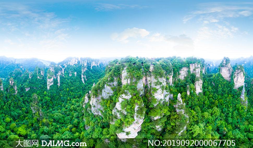 张家界黄石寨旅游景区摄影图片