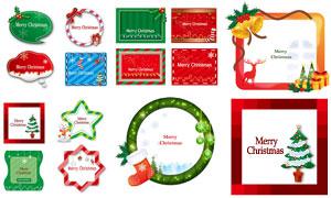 圣誕襪雪人等元素創意設計矢量素材