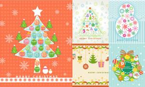 吊球雪花等圣诞节创意设计矢量素材