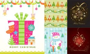 礼物与雪人等圣诞主题创意矢量素材