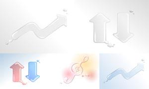 液态水组成的图形创意矢量素材集V04