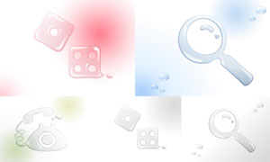 液态水组成的图形创意矢量素材集V08