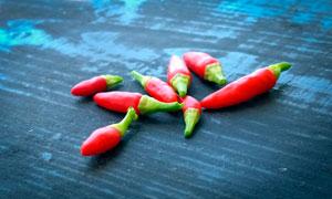 红色小米椒高清摄影图片