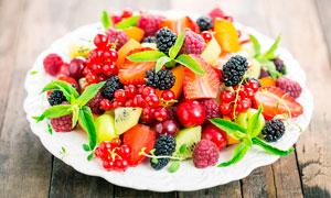 水果拼盘餐饮菜品摄影图片