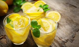 柠檬冰茶饮品高清摄影图片