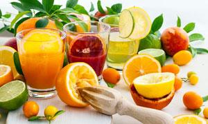 鲜榨橙汁饮料高清摄影图片
