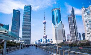 上海陆家嘴商业中心建筑摄影图片