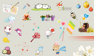 儿童相册适用文字卡通装饰素材集V21