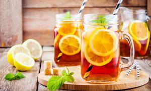 柠檬红茶饮品高清摄影图片