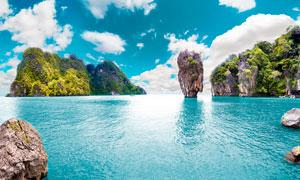 泰国大白菜岛旅游全景摄影图片