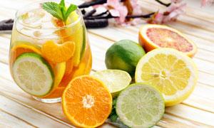 饮品店水果茶高清摄影图片