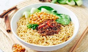 重庆碗杂面传统小吃摄影图片