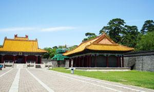 沈阳东陵清福陵宫殿古建筑摄影图片