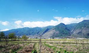 云南大理蒼山田園農田風光攝影圖片