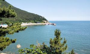 海边山林美景高清摄影图片