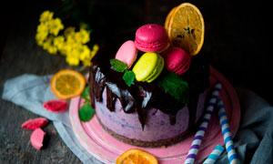 西式水果蛋糕高清摄影图片