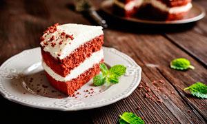 奶油夹心蛋糕美食高清摄影图片