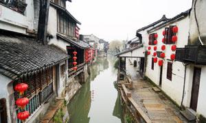 西塘古镇江南水乡景色高清摄影图片