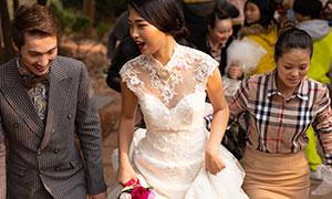 婚礼现场新娘新郎人物摄影原片素材