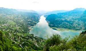 水布垭坝区美景航帕图高清摄影图片