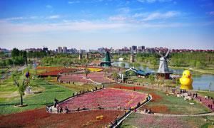 滨州秦皇岛公园美景高清摄影图片
