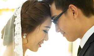 幸福甜蜜情侶人物婚紗主題攝影原片