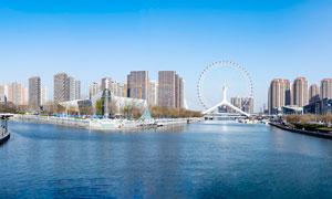 天津海河三岔河口美景摄影图片
