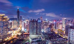 都市建筑物美丽夜景摄影图片
