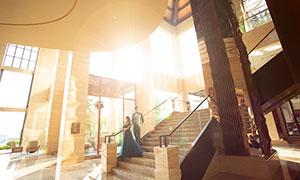 耀眼陽光內景婚紗高清攝影原片素材