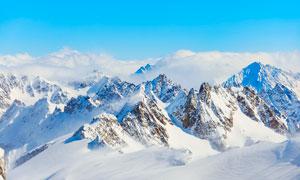 瑞士阿尔卑斯山美景高清摄影图片