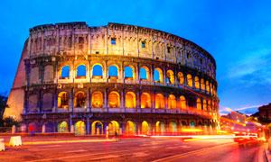 罗马斗兽场美丽夜景摄影图片