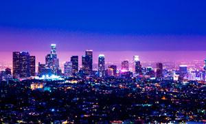 璀璨的城市美丽夜景摄影图片