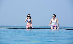 夏日清凉打扮情侣男女写真摄影原片