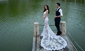 风吹涟漪湖景风光婚纱摄影高清原片