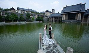 平静湖水风光外景婚纱摄影高清原片