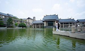 景区古建筑物外景婚纱摄影高清原片