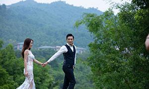 青山绿树繁茂风景婚纱摄影高清原片