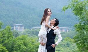 绿树青山自然风光婚纱高清原片素材