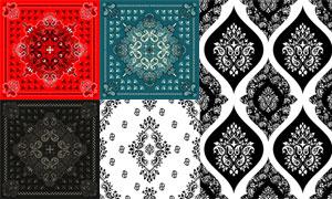 織物印染圖案適用的矢量素材集合V18