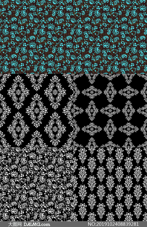 织物印染图案适用的矢量素材集合V20