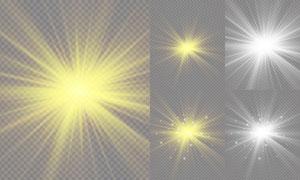 光源光效设计元素主题矢量素材集V05