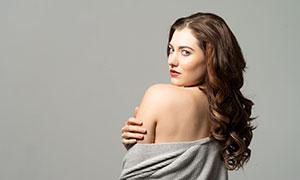 披肩卷發國外美女模特攝影高清原片