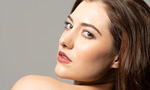 紅唇妝容美女特寫主題攝影高清原片