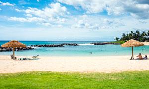海边沙滩旅游度假高清摄影图片
