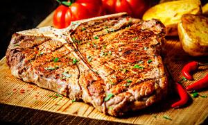 T骨牛排西餐美食摄影图片