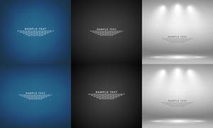 燈光與紋理背景等創意設計矢量素材