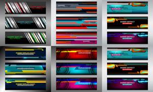多款BANNER版式设计矢量素材集V02